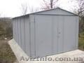 Металлический гараж c стального листа или профнастила.