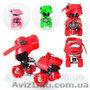Детские раздвижные 4-колесные ролики Profi Roller размер 16-21 см,  3 цвета